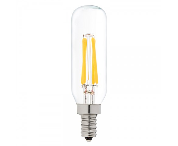 LED Vintage Light Bulb - Radio Style T8 Candelabra LED Bulb w/ Filament LED - Dimmable