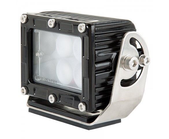 "LED Work Light - 4"" Square Work Light w/ Extreme Vibration Resistant Mount and Combo Beam - 30W - 2000 Lumens"