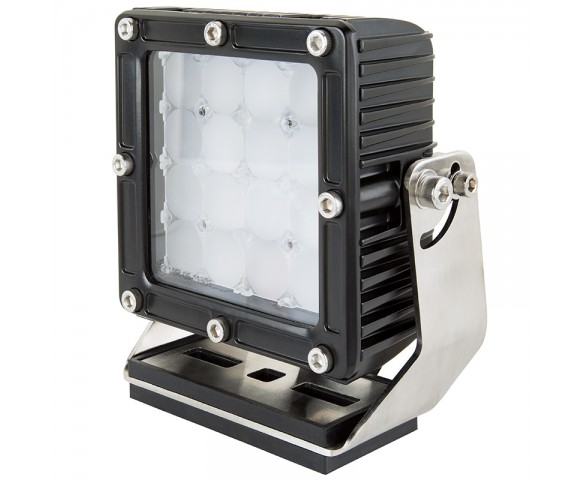 "LED Work Light - 5.5"" Square Work Light w/ Heavy Duty Vibration Resistant Mount and Combo Beam - 80W - 5600 Lumens"