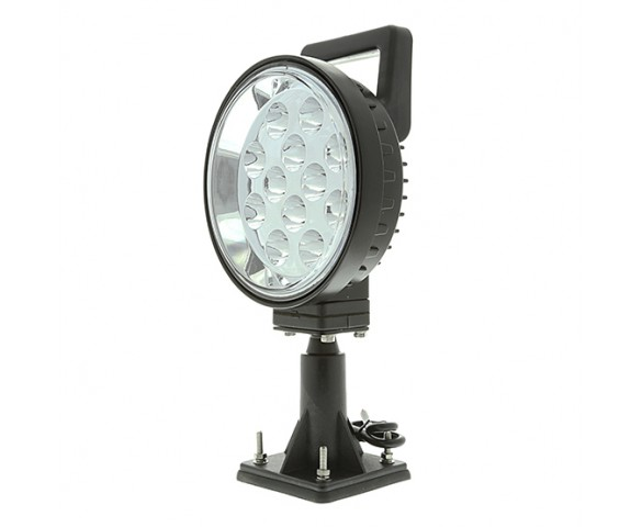 "LED Work Light - 6"" Round - 12W Adjustable Spot Light w/ Handle"