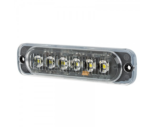 Low Profile Vehicle LED Mini Strobe Light Head - Single or Dual Color - 18 Watt