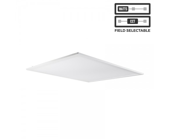 2x2 LED Panel Light - Field Selectable - Color Temperature 3500K/4000K/5000K - Wattage 30W/35W/45W - 4 Pack