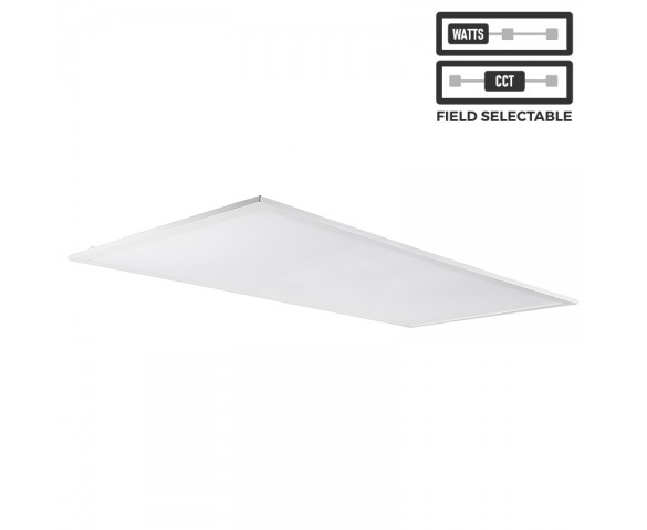 2x4 LED Panel Light - Field Selectable - Color Temperature 3500K/4000K/5000K - Wattage 30W/35W/45W - 4 Pack