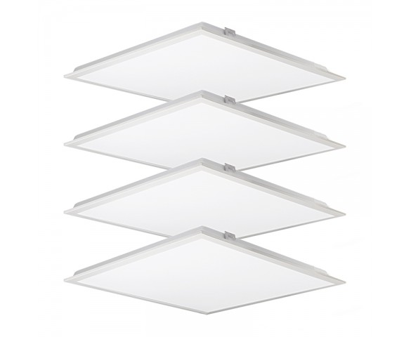2x2 LED Backlit Panel Lights - 4,000 Lumens - 40W Dimmable Even-Glow® Light Fixture - 4 Pack - 4000K