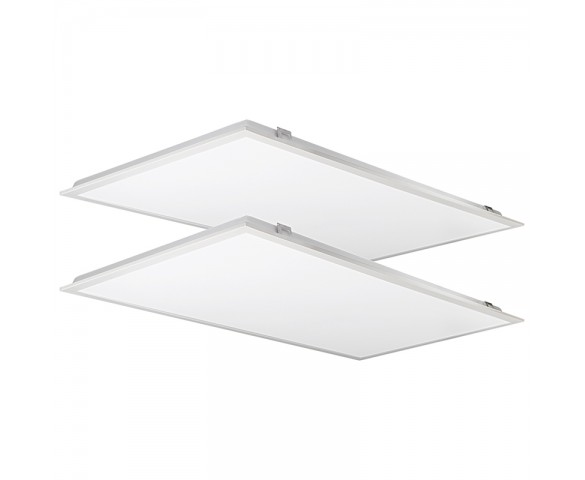 2x4 - LED Backlit Panel Lights - 5,000 Lumens - 50W Dimmable Even-Glow® Light Fixture - 2 Pack - 4000K