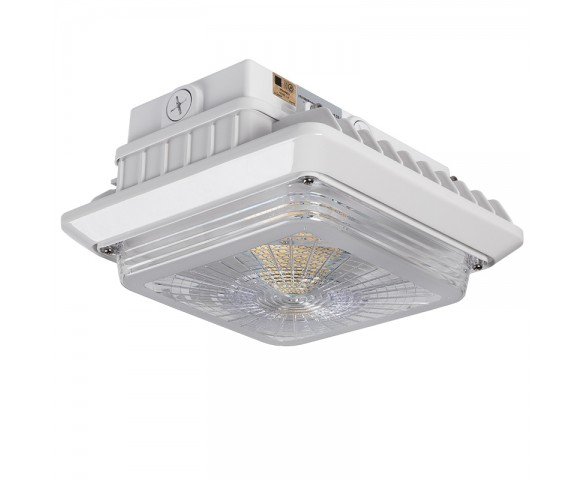 LED Canopy Lights - 55W - 5000K - Surface Mount or Conduit Install - 175W MH Equivalent - 6,600 Lumens