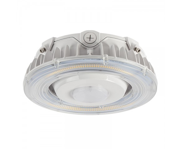 55W LED Parking Garage Round Canopy Light - 6500 Lumens - 175W MH Equivalent - 5000K