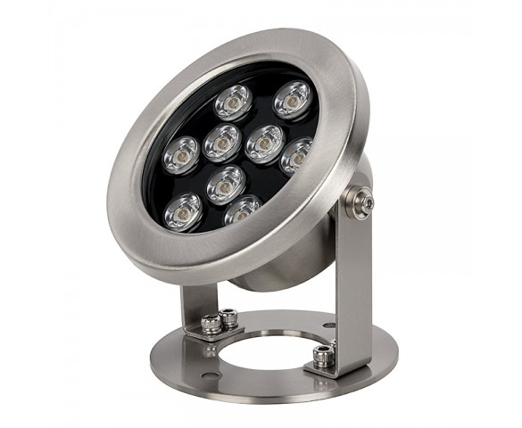 9W Underwater LED Light - Pond and Landscape Spotlight - 3000K - 12V DC/AC