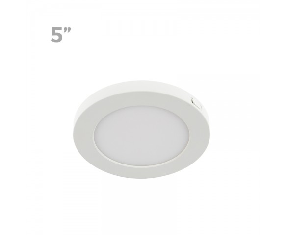 "5"" LED Downlight w/ White Interchangeable Trim - 6W Flush Mount Ceiling Light - 360 Lumens - 50 Watt Equivalent - 4000K/3000K - Dimmable"