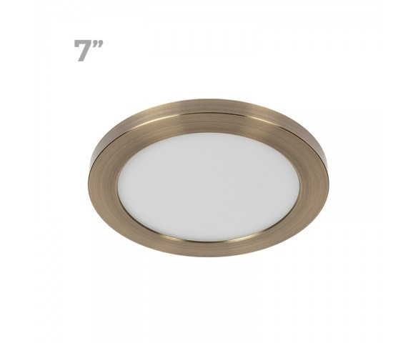 "7"" LED Downlight w/ Bronze Trim - 12W Flush Mount Ceiling Light - 960 Lumens - 75 Watt Equivalent - 4000K/3000K - Dimmable"