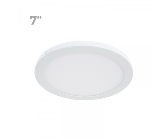 "7"" LED Downlight w/ White Interchangeable Trim - 12W Flush Mount Ceiling Light - 960 Lumens - 75 Watt Equivalent - 4000K/3000K - Dimmable"