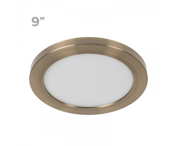 "9"" LED Downlight w/ Bronze Trim - 18W Flush Mount Ceiling Light - 1,440 Lumens - 100 Watt Equivalent - 4000K/3000K - Dimmable"