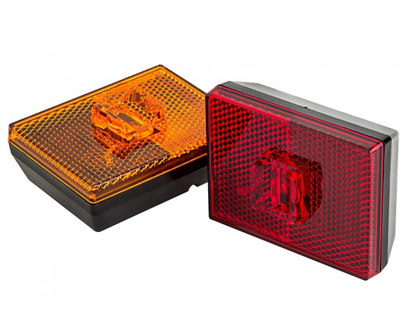 M10PC series Stud Mounted Marker Lamp: Available In Red & Amber