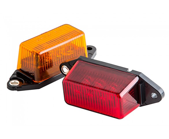 M6 series LED Marker Lamp: Available In Red & Amber