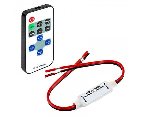 single color led controller with dynamic modes - rf remote | super bright  leds
