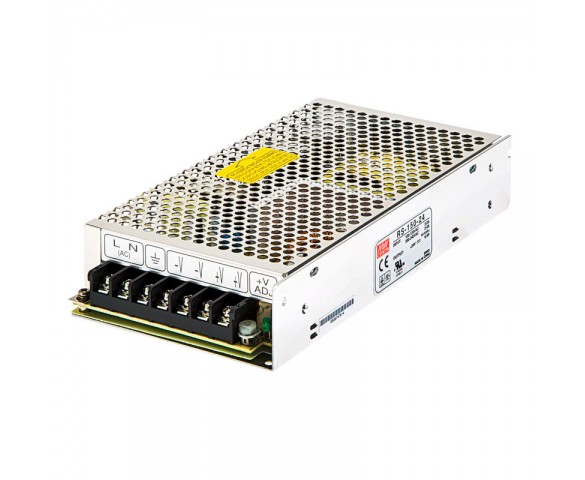 Mean Well LED Power Supply - RS series 150W Enclosed Power Supply - 24V DC