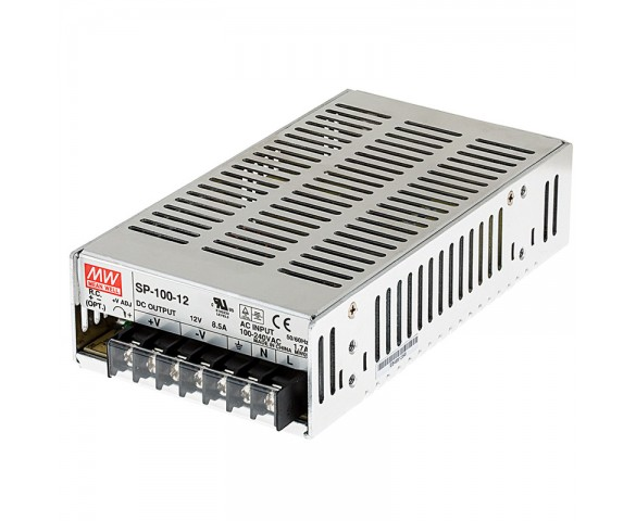 Mean Well LED Switching Power Supply - SP Series 100-320W Enclosed Power Supply with Built-in PFC - 12V DC