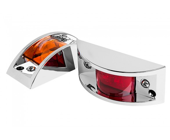 MPC series Chrome Armored Marker Lamp: Available In Red & Amber