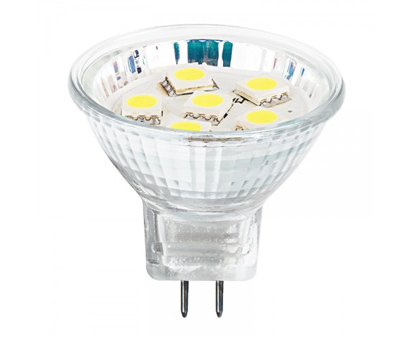 MR11 LED Bulb - 6 SMD LED Bi-Pin Flood Light Bulb