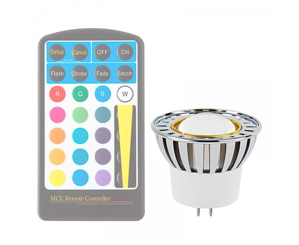 Color-Changing MR16 LED Bulb - 10 Watt Equivalent - RGB LED Spotlight Bulb - Remote Sold Separately