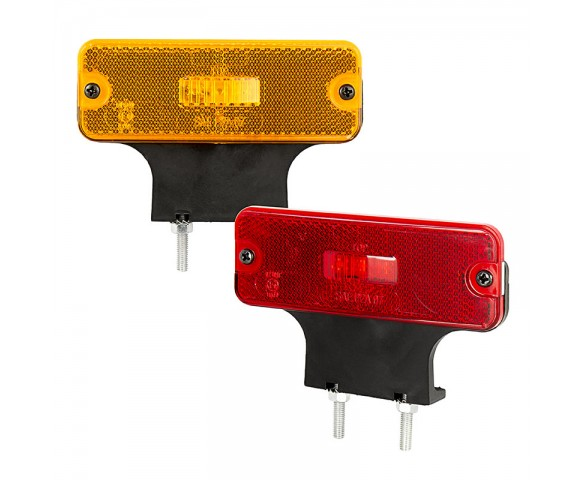 "Rectangular LED Clearance, Identification, or Side Marker Light w/ Flexible Elevation Bracket - 4.5"" LED Truck/Trailer Light"