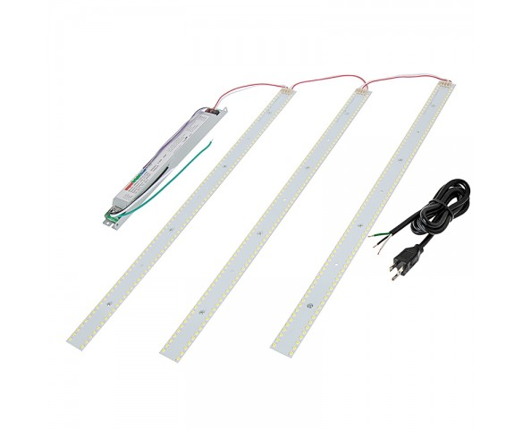 40W LED Magnetic Strip Kit - Three 2ft Pcs and LED Driver - 4300 Lumens - Dimmable