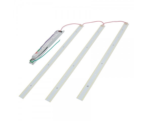 40W LED Magnetic Strip Troffer Retrofit Kit - 2x2 Troffer - 6,300 Lumens - Dimmable