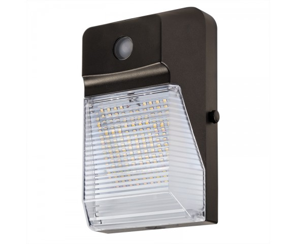 20W LED Mini Wall Pack with Photocell - 2300 Lumens - 70W Metal Halide Equivalent - 5000K/4000K