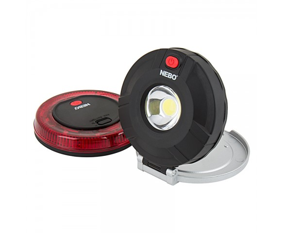 NEBO TWIN PUCKS LED Task Light and LED Safety Flare Combo