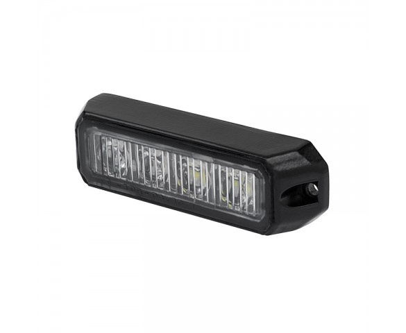 "4"" Grille and Surface Mount LED Strobe Light Head - 12W"