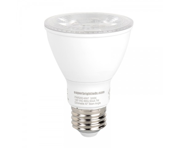 PAR20 LED Bulb - 50 Watt Equivalent - Dimmable LED Spotlight Bulb - 510 Lumens