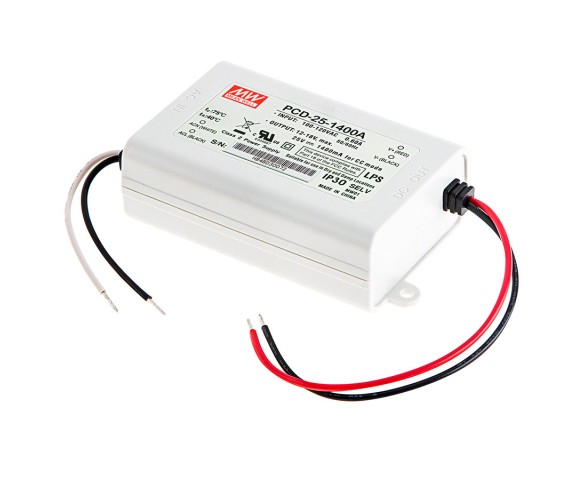 Mean Well LED Switching Power Supply - PCD Series AC Dimmable LED Constant Current Driver - A-Type - 1400mA -24-48