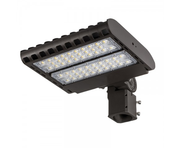 LED Parking Lot Light - 100W (250W HID Equivalent) Dimmable LED Shoebox Area Light - 3000K/4000K/5000K - 12,000 Lumens