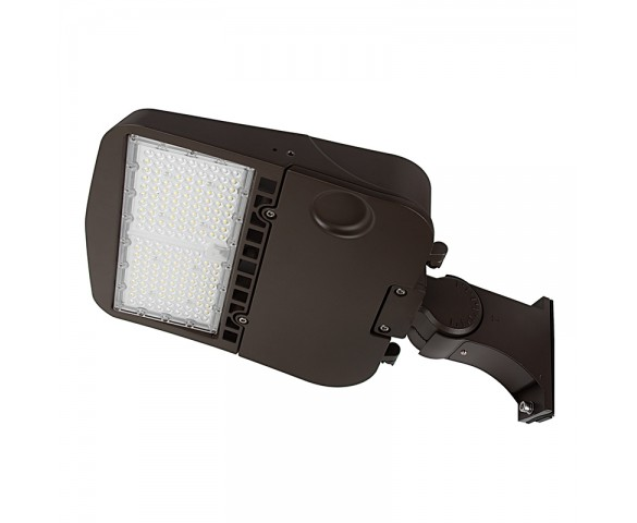 100W LED Parking Lot/Shoebox Area Light - 277-480 VAC - 14,000 Lumens - 250W MH Equivalent - 5000K - Pole/pole Knuckle Mount