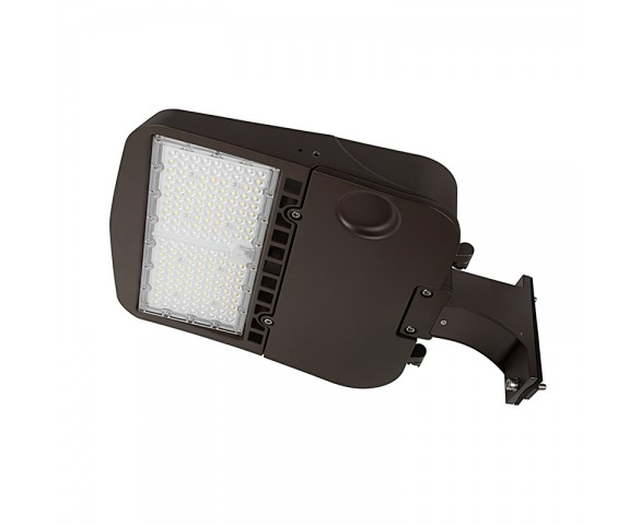 100W LED Parking Lot/Shoebox Area Light - 277-480 VAC - 14,000 Lumens - 250W MH Equivalent - 5000K - Pole/pole Fixed Mount