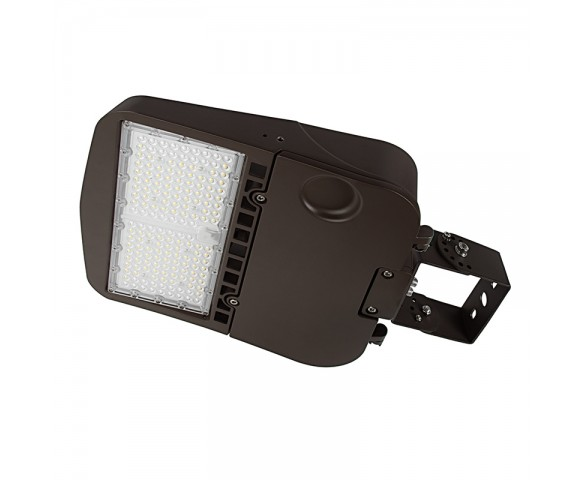 100W LED Parking Lot/Shoebox Area Light - 277-480 VAC - 14,000 Lumens - 250W MH Equivalent - 5000K - Trunnion Wall/Surface Mount