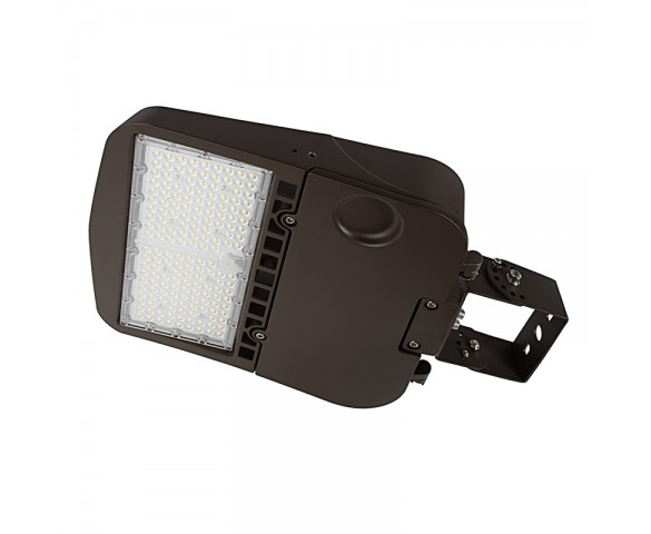 150W LED Parking Lot/Shoebox Area Light - 277-480 VAC - 20,400 Lumens - 400W MH Equivalent - 5000K - Trunnion Wall/Surface Mount