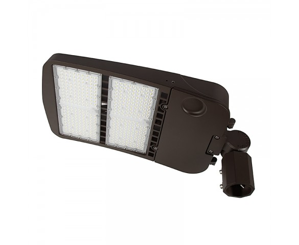 300W LED Parking Lot/Shoebox Area Light - 40,700 Lumens - 1000W MH Equivalent - 5000K - Knuckle Slipfitter Mount