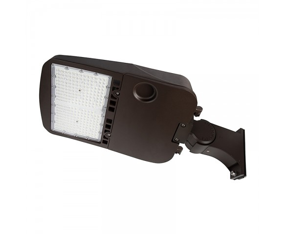200W LED Parking Lot/Shoebox Area Light - 277-480 VAC - 26,900 Lumens - 750W MH Equivalent - 5000K - Pole/pole Knuckle Mount