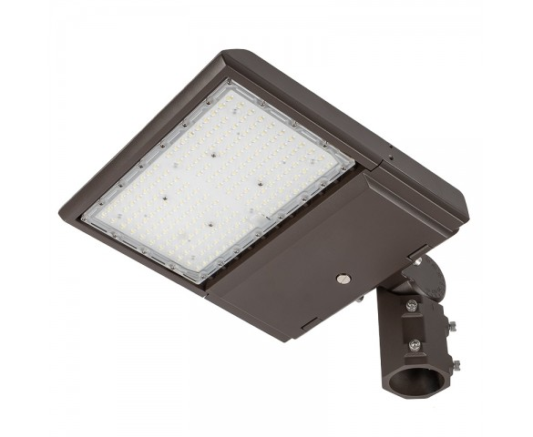 100W LED Area/Site Light - 15,000 Lumens - 250W MH Equivalent - 5000K - Knuckle Slipfitter Mount
