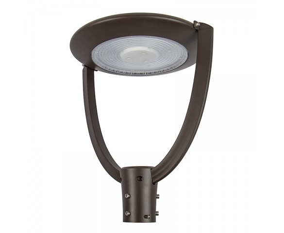 75W LED Post Top Light - 10,000 Lumens - Optional Photocell Sensor - 5000K