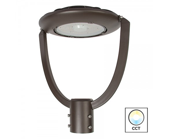 75W LED Post Top Light - 9,600 Lumens - Selectable Color Temperature - Optional Photocell Sensor - 250W MH Equivalent - 5000K/4000K/3000K