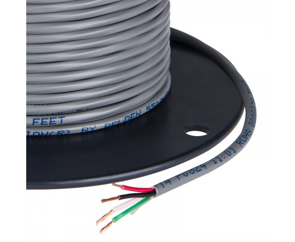 PVC Jacketed 4 Conductor 18 AWG Power Wire PP FRPVC Gray