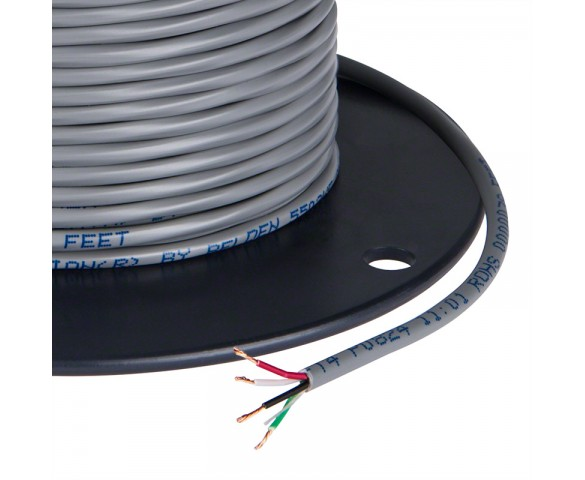 PVC Jacketed 4 Conductor 22 AWG Power Wire PP FRPVC Gray