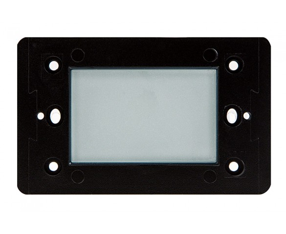 120V LED Step Lights - Window Rectangular Step Accent Light with Faceplate - 35 Lumens