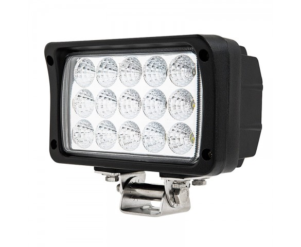 "6"" Rectangular 45W Heavy Duty High Powered LED Work Light"