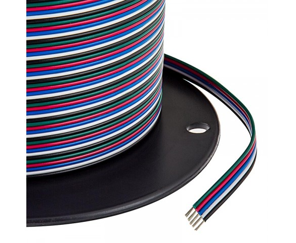 22 Gauge Wire - Five Conductor RGB+W Power Wire