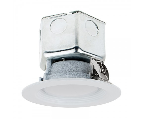 "Replacement LED Downlights for 4"" Fixtures - 65 Watt Equivalent LED Can Light Replacement - Integral Junction Box - 650 Lumens"