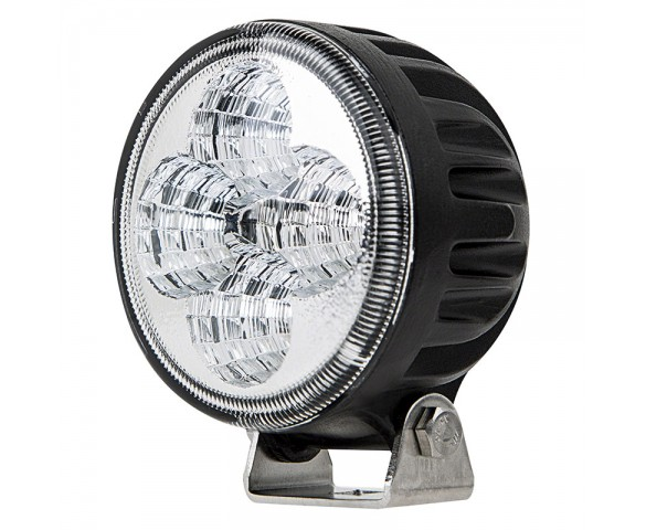 "3.25"" Round 12W Heavy Duty High Powered LED Work Light - Black"