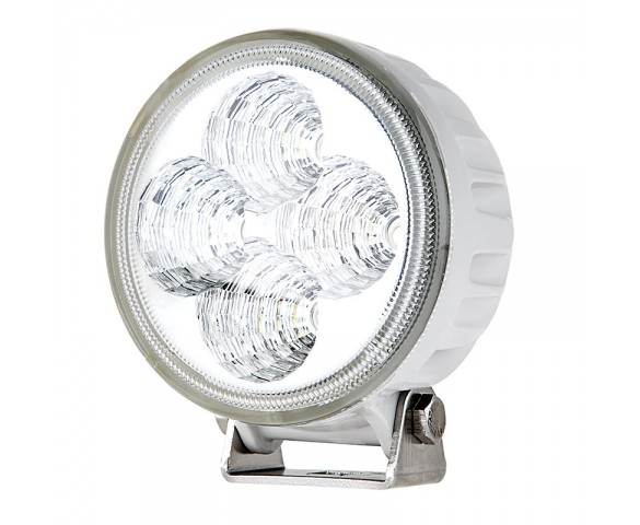"3.25"" Round 12W Heavy Duty High Powered LED Work Light - White"